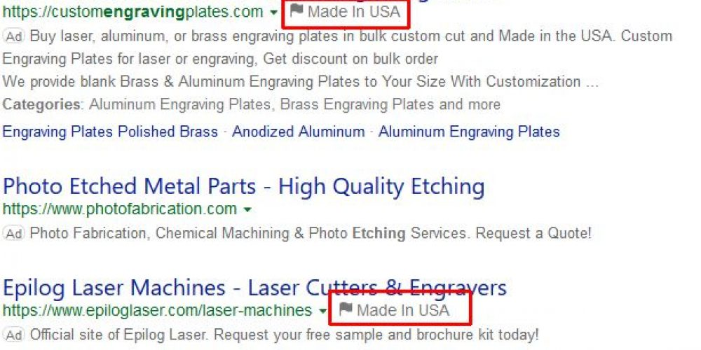 'Made in USA' ad extensions spotted on Bing