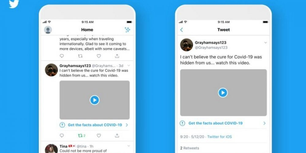 Twitter Adds New Labels on Potentially Harmful COVID-19 Misinformation in Tweets