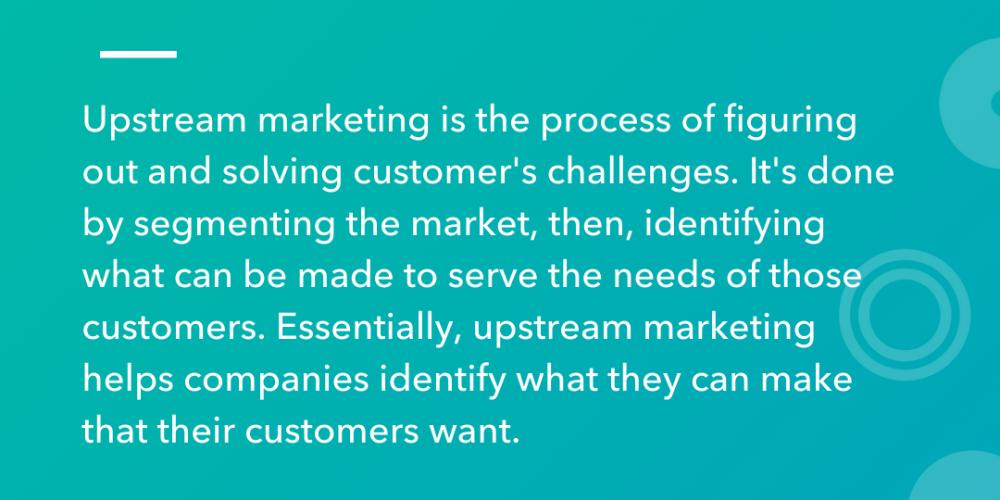 Upstream vs. Downstream Marketing, Explained