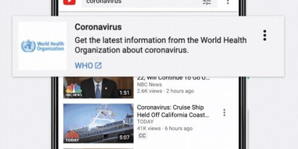 YouTube Will Ease its 'Sensitive Events' Policy to Allow Monetization of Some Coronavirus-Related Videos